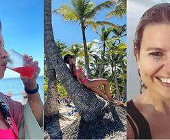 Marta Manowska w różowym bikini opala się na palmie i cytuje Matę (ZDJĘCIA)
