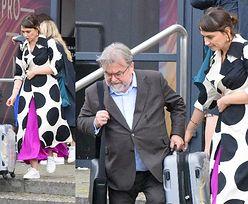 Oddana żona Anna Cieślak pomaga Edwardowi dźwigać walizkę (ZDJĘCIA)