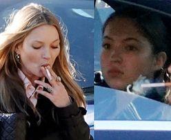 Kate Moss zaciąga się papierosem przy nastoletniej córce (ZDJĘCIA)