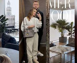 Wnętrza pełne luster, NAJDROŻSZE dodatki i... Pałac Kultury za oknem! Tak mieszkają Sara i Artur Borucowie (ZDJĘCIA)