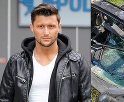 """Piotr Mróz z """"Tańca z Gwiazdami"""" miał wypadek samochodowy! """"Z głowy LECI MI KREW"""" (ZDJĘCIA)"""