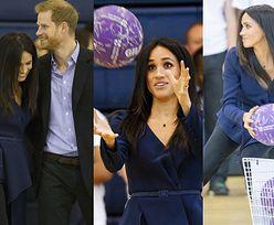 Meghan Markle rzuca piłką w męża podczas charytatywnego meczu (ZDJĘCIA)
