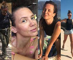 Wakacje Kingi Rusin: selfie z waranem z Komodo, pozowanie bez makijażu i pływanie z rekinem (ZDJĘCIA)