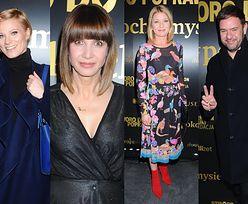 Gwiazdy spędzają piątkowy wieczór w teatrze: zakłopotana Głogowska, błyszcząca Wolszczak, zadowolony Karolak... (ZDJĘCIA)