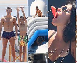 Cristiano Ronaldo, jego boskie ciało, ukochana i syn bawią się na jachcie we Francji (ZDJĘCIA)
