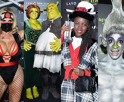 """Tak wyglądała halloweenowa impreza u Heidi Klum: Fiona i Shrek, wojowniczka ninja, troll,  Dionne z """"Clueless""""... (ZDJĘCIA)"""