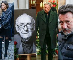 Gwiazdy żegnają Witolda Sobocińskiego: Daniel Olbrychski, Robert Więckiewicz, Weronika Książkiewicz... (ZDJĘCIA)