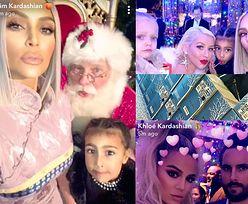 Święta u Kardashianek: Mikołaj, kartony wódki i… brak Kylie! (ZDJĘCIA)