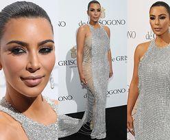 Błyszcząca Kim Kardashian na imprezie w Cannes (ZDJĘCIA)