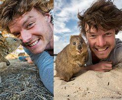 """Ten fotograf został mistrzem """"selfie"""" z dzikimi zwierzętami... (FOTO)"""