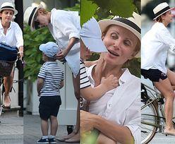 Ciężarna Zielińska wiezie syna na rowerze i rozmyśla o karierze (ZDJĘCIA)
