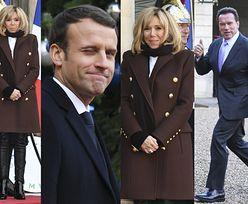 Zziębnięta Brigitte Macron z mężem witają członków szczytu klimatycznego (ZDJĘCIA)