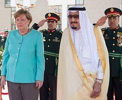 Angela Merkel u króla Arabii Saudyjskiej z odkrytą głową! (ZDJĘCIA)