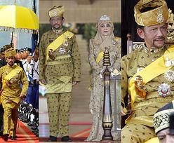 Złoty parasol i tłumy na ulicach: Sułtan Brunei świętuje jubileusz panowania (ZDJĘCIA)