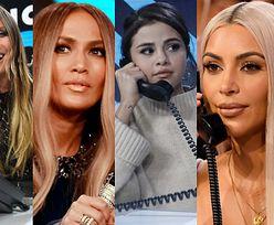 Amerykańskie celebrytki pozują ze słuchawkami: Kardashian, Lopez, Klum, Gomez... (ZDJĘCIA)