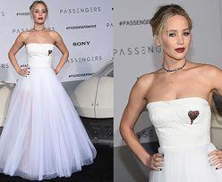 "Jennifer Lawrence w tiulowej sukni na premierze ""Passengers"""