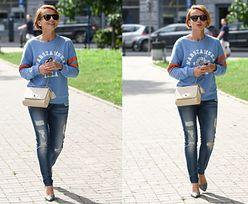 Katarzyna Zielińska na obiedzie w podartych spodniach (ZDJĘCIA)