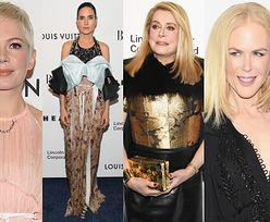 Gwiazdy pozują na imprezie Louis Vuitton: Nicole Kidman, Michelle Williams, Catherine Deneuve w złotej zbroi... (ZDJĘCIA)