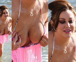 """48-letnia gwiazdka """"Big Brothera"""" wygina się na plaży (ZDJĘCIA)"""