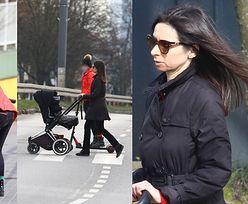 Ostrożna Marta Kaczyńska unika ludzi na spacerze z dziećmi i w knajpce z fast foodem (ZDJĘCIA)