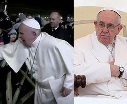 Papież Franciszek szarpnięty przez wierną! UDERZYŁ w jej dłoń, a teraz przeprasza za swoje zachowanie