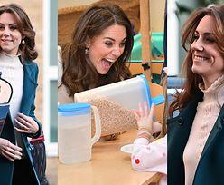 Uśmiechnięta Księżna Kate przyrządza płatki z mlekiem dla dzieci w przedszkolu (ZDJĘCIA)