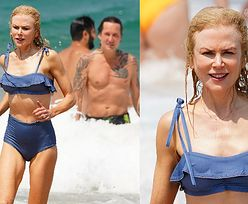 52-letnia Nicole Kidman pluska się w morskich falach w towarzystwie ukochanego. Robi wrażenie? (ZDJĘCIA)