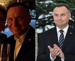 """Andrzej i Agata Dudowie w szampańskich nastrojach pozują do noworocznego selfie: """"DOBREJ ZABAWY"""""""