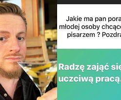"""Szczepan Twardoch drinkuje i dzieli się mądrościami na Instagramie: """"Można och*jeć od lockdownu"""""""