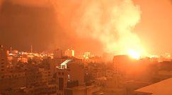 Dramatyczne nagrania świadków z bombardowań w Strefie Gazy