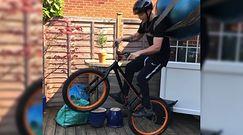 Trik z rowerem. Nagrał swoją sztuczkę i pochwalił się nią w sieci