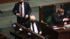 Kiedy wchodził na mównicę, Kaczyński wyszedł. Mamy jego komentarz