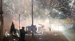 Eksplozja w magazynie fajerwerków. Efektowne nagranie z Rosji