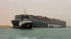 Kontenerowiec uwięziony w Kanale Sueskim