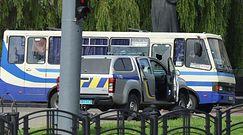 Autobus z zakładnikami na Ukrainie. Nagranie z Łucka