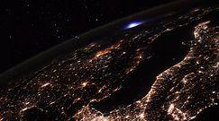 Tajemniczy niebieski błysk nad Europą. Niezwykłe zdjęcie z Międzynarodowej Stacji Kosmicznej