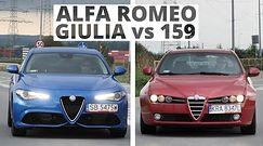 """Alfa Romeo Giulia kontra 159 - która ma więcej """"alfizmów""""?"""
