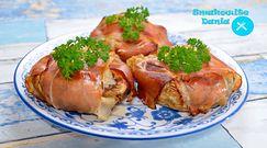 Pieczarki nadziewane serem feta i szynką. Świetna przekąska prosta w przygotowaniu
