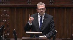Braun w Sejmie: Będziesz pan wisiał!