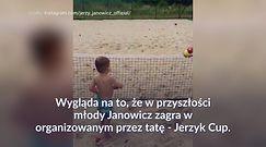 #dziejesiewsporcie: Polska ma nowy tenisowy talent?! Wideo z synem Janowicza zachwyca