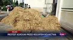 Protest rolników w Warszawie. Agrounia blokowała budynek ministerstwa rolnictwa