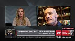 #Newsroom. Piotr Zelt zmienił zawód na czas zamknięcia teatrów