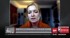 Czy mutacje koronawirusa utrudnią akcję szczepień? O zagrożeniach mówi wirusolożka dr Skirmuntt