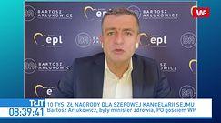 Premia dla szefowej Kancelarii Sejmu. Ostry komentarz Bartosza Arłukowicza