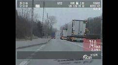 Kierowca ciężarówki zarobił 20 punktów. Wyprzedzał na skrzyżowaniu i przejściu dla pieszych.