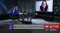 """Barbara Nowacka spryskana gazem. """"Odpowiedzialność ponosi Kaczyński i Morawiecki"""""""