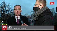 Marsz Niepodległości w Warszawie: Robert Winnicki o zajściach na rondzie de Gaulle'a