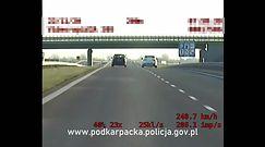 Pijany jechał 248 km/h. Policjanci z grupy Speed zapobiegli tragedii
