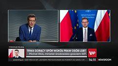 """Michał Woś o """"banie"""" od telewizji publicznej: """"Politycy Solidarnej Polski nie byli w TVP Info od połowy lipca"""""""