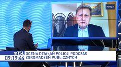 Policja rozbija manifestacje. Balcerowicz: propaganda PiS i prześladowanie